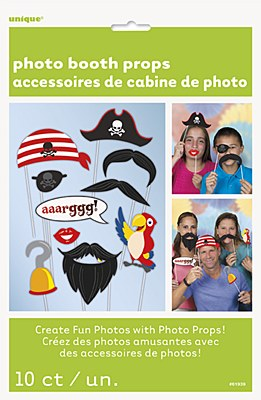 Pirate Photo Booth Party Kit