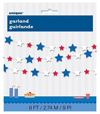Patriotic Star Garland Paper Banner