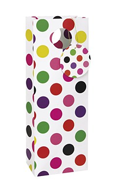 Colorful Dots Wine Gift Bag