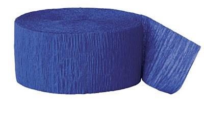 81' Crepe Blue Streamer