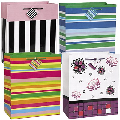 Party Stripes Gift Bag