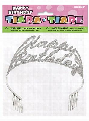 Metal And Glitter Birthday Tiara