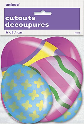 Easter Egg Cutout Decorations