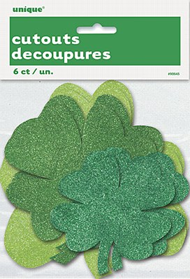 Shamrock Glitter Cutouts Decorations