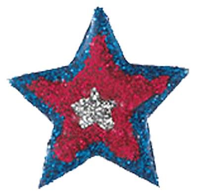 Patriotic Glitter Star Body Tattoo / Sticker