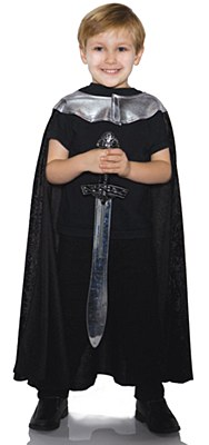 Knight Child Black Cape