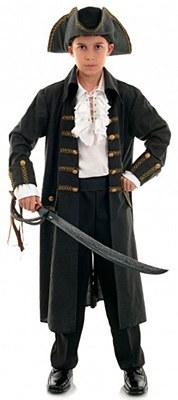 Pirate Captain Black Child Costume