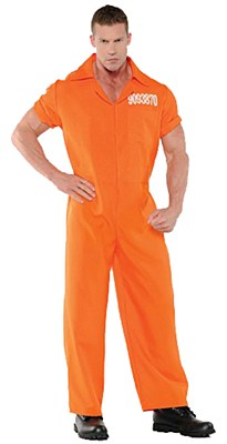 Convicted Prison Jumpsuit Adult Plus Costume