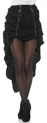 Steampunk Gathered Black Adult Skirt