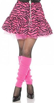 80's Pink Zebra Skirt