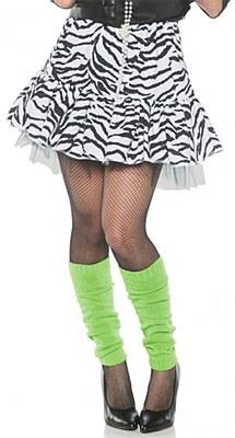 80's White Zebra Skirt
