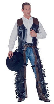 Chaps And Vest Cowboy Adult Plus Costume