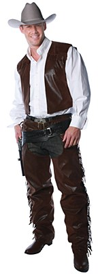 Chaps And Vest Cowboy Adult Costume