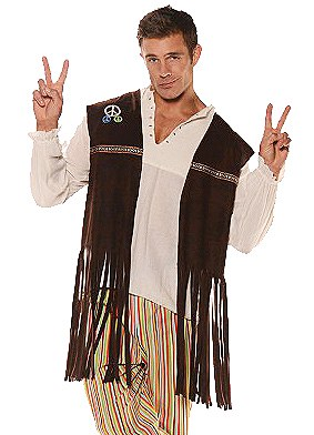 Hippie Fringe Vest With Patches