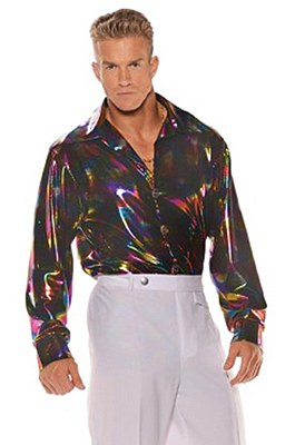 Metallic Rainbow Disco Shirt