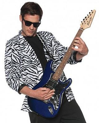 80's White Zebra Print Adult Blazer Jacket