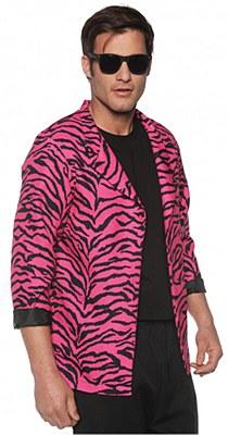 80's Pink Zebra Print Adult Blazer Jacket
