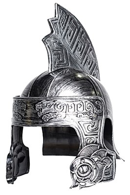 Gladiator Tiger Silver Adult Helmet