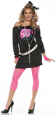 Awesome 80's Adult Costume