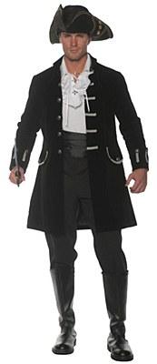 Pirate Frock Black Adult Coat
