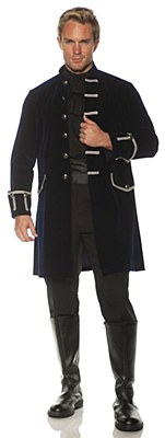 Pirate Frock Navy Blue Adult Coat