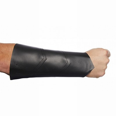 Faux Leather Black Wrist Guard