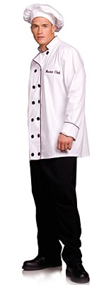 Chef Jacket And Hat Adult Plus Costume