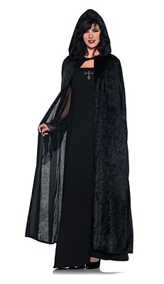 Panne Hooded Adult Cloak