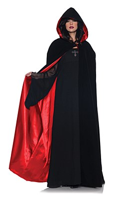 Velvet Hooded Full Length Adult Cape