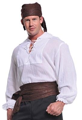 Pirate Natural Lace Up Men's Shirt