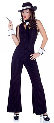 Bugsy Gangster Lady Adult Costume