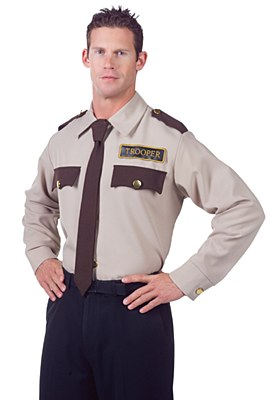Trooper Police Long Sleeve Adult Shirt