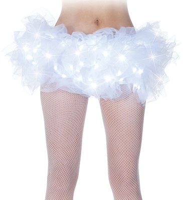 Light Up Organza White Tutu Skirt