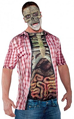 Skeleton Zombie Guts Shirt