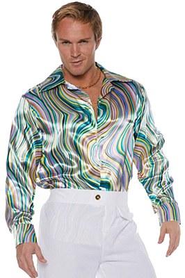 70's Swirl Men's Disco Shirt