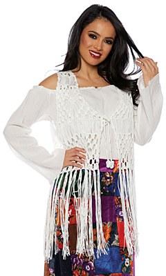70's Macrame Hippie Fringe Vest