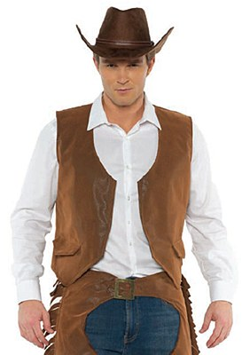 Cowboy Men's Brown Suede Vest