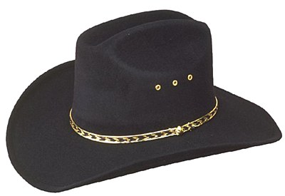 Cattleman Adult Black Cowboy Hat