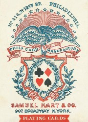 1858 Poker Deck Playing Cards