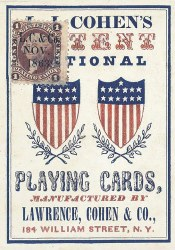 1863 Poker Deck Playing Cards