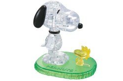 3D Crystal Puzzle - Peanuts: Snoopy & Woodstock