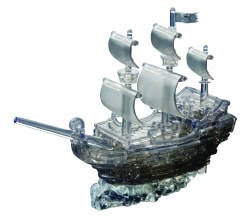 3D Crystal Puzzle - Pirate Ship - Black
