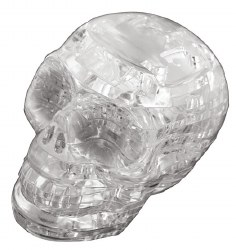 3D Crystal Puzzle - Skull - Clear
