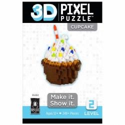 3D Pixel Puzzles - Cupcake