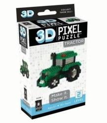 3D Pixel Puzzle - Tractor