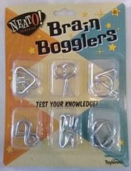 Brain Bogglers Metal Puzzles