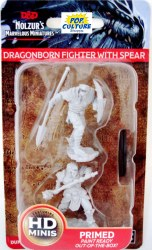 D&D HD Minis: Dragonborn Fighter with Spear (Male)