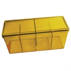 Dragon Shield 4 Compartment Deck Box: Yellow
