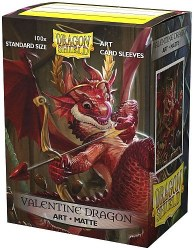 Dragon Shield: 100 Art Matte Valentine Dragon Sleeves
