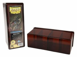Dragon Shield 4 Compartment Storage Box: Brown